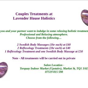 Couples treatments carried out individually