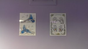 On the Left is foot reflexology and on the Right is hand reflexology