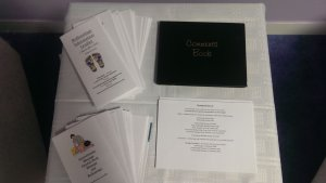 Collection of treatment leaflets and comment book.